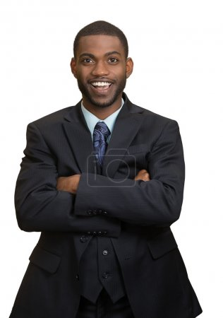 Friendly looking business man welcoming