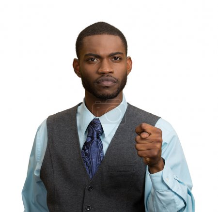 Man giving thumb, finger figa gesture you are getting zero nothing