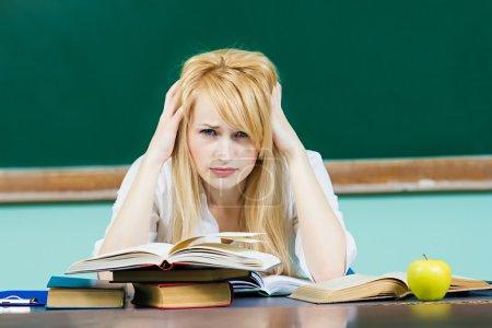 Bored unhappy student