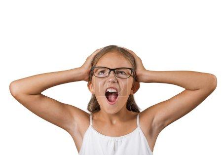 Overwhelmed teenager girl