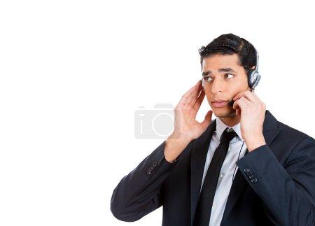 male customer service representative, operator