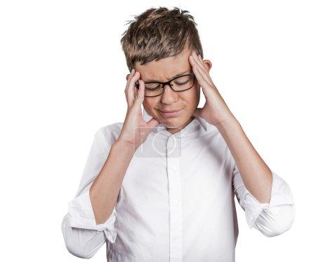 stressed teenager boy
