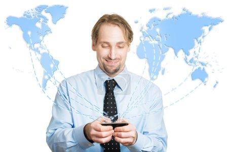 Modern communication technology mobile phone high tech