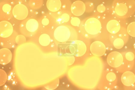Wallpaper, screensaver to Valentine's Day with yellow hearts