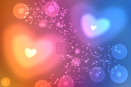 Wallpaper  to Valentine's Day with hearts