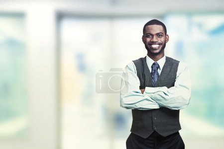 Photo for Portrait of a young smiling businessman. Positive face expression - Royalty Free Image