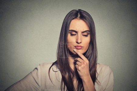 Photo for Thoughtful young woman thinking - Royalty Free Image
