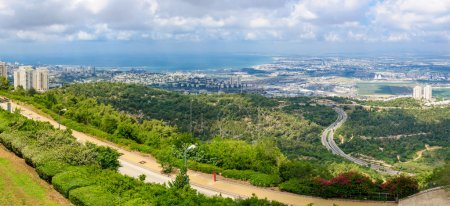 Panoramic view of the bay of Haifa