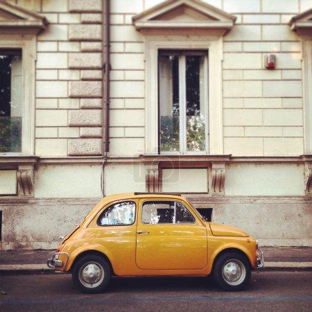 Old Fiat 500 Roma car