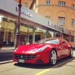 Постер, плакат: Red Ferrari car