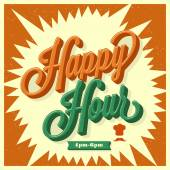 Happy Hour card - set of various design elements