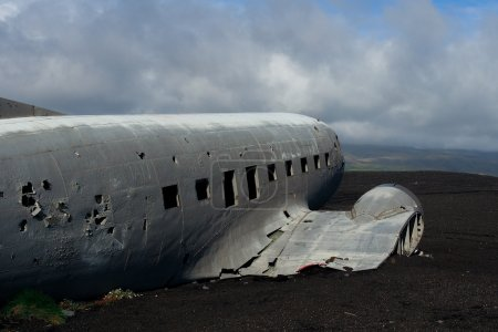 Wreck of US military plane