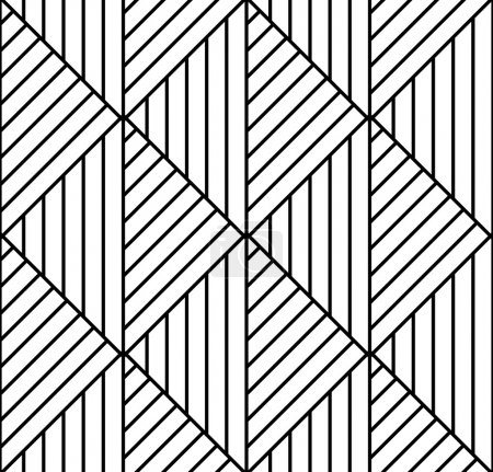 Illustration for Seamless geometric pattern in op art design. Vector art. - Royalty Free Image