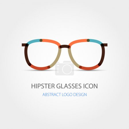 Hipster glasses icon. Abstract logo design. Vector