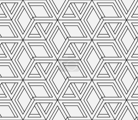 Ilustración de Patrón geométrico sin fisuras en el op-art diseño. arte vectorial. - Imagen libre de derechos
