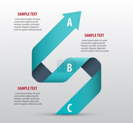 Abstract infographics with arrows