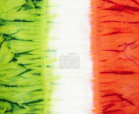 Photo for Italian flag. Abstract tie dyed fabric background - Royalty Free Image