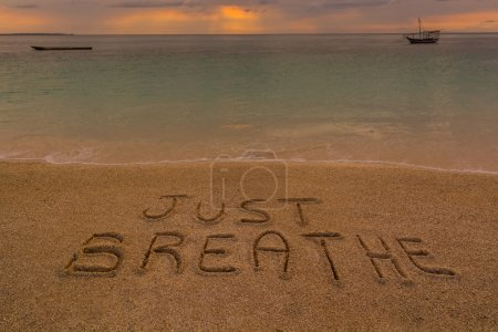 Just breathe words
