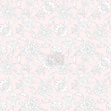 Light floral seamless pattern