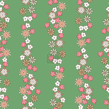 Illustration pour Romantique motif floral sans soudure de fond clair - image libre de droit