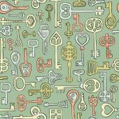 Hand drawn vintage keys