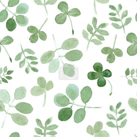 Background with clover and grass