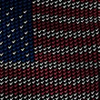 Plurality of voting symbol forming American flag w...