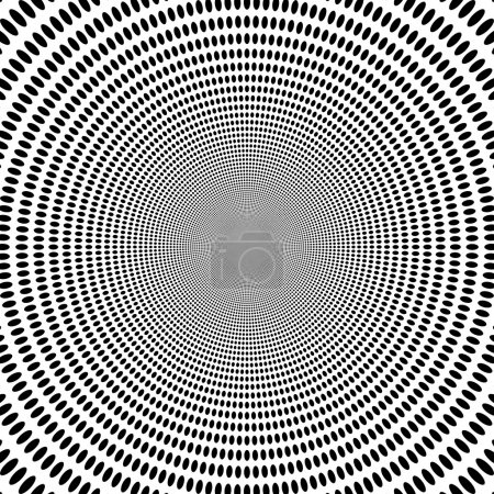 Concentric abstract symbol, circles - optical, visual illusion