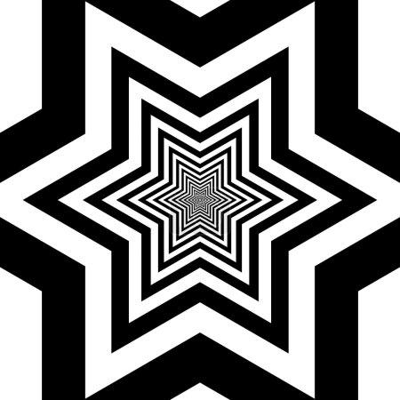 Photo pour Illusion optique et visuelle noir-blanc - image libre de droit