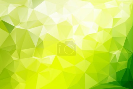Green Light Polygonal Mosaic Background, Vector illustration,  Business Design Templates