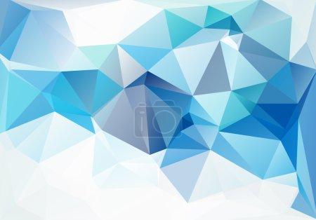 Illustration pour Bleu Blanc Polygonale Mosaïque Arrière-plan, Illustration vectorielle, Modèles de conception d'entreprise créative - image libre de droit