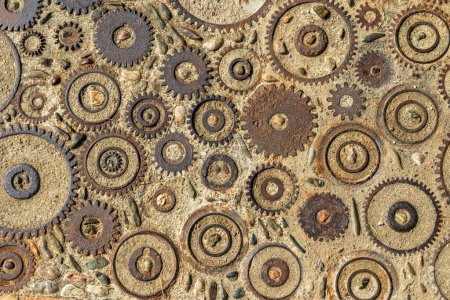 Pavement texture with gears and