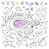 Doodle horoskop sada