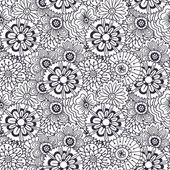 Vector pattern with abstract flowers ornament