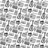 doodle musical instruments and sound elements