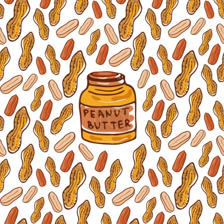 peanuts and butter jar