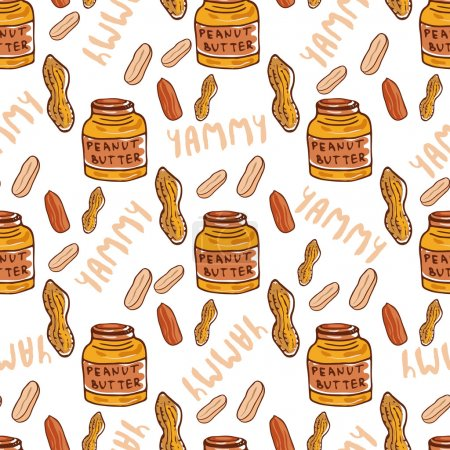 pattern with cute butter jars.