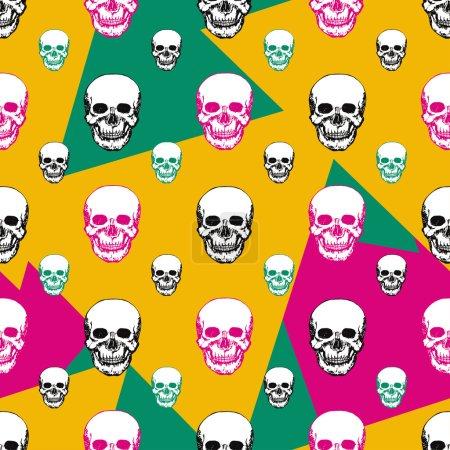 Colorful skulls print.