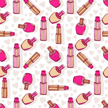 Cosmetic products pattern.