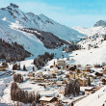 Arabba,italy october 25 1980:arabba dolomites snow...