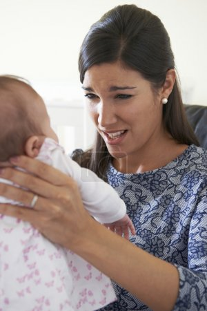Frustrated Mother Suffering From Post Natal Depres...