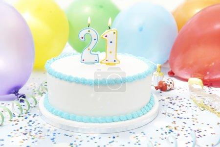 Cake Celebrating 21st Birthday
