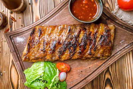 Photo for Barbecue pork ribs, close up - Royalty Free Image