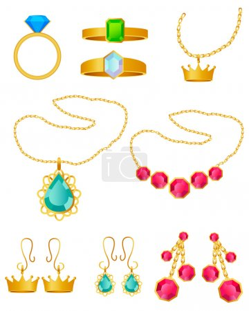 Jewelry set Rings pendants and