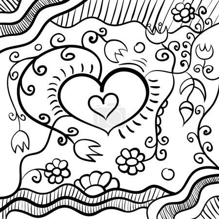 Photo pour Fond noir et blanc abstrait. Illustration vectorielle . - image libre de droit