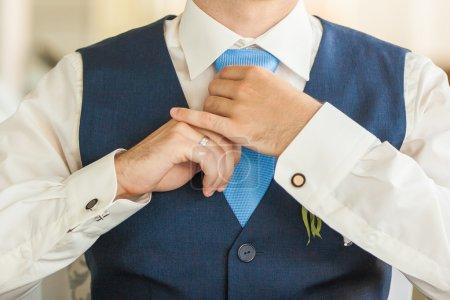 Groom sur le mariage