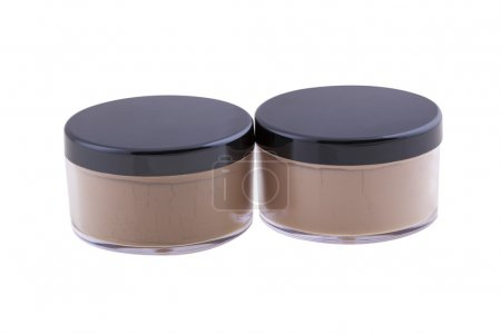 Photo for The Makeup powder isolated on white background - Royalty Free Image