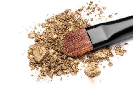 make-up brush on  eyeshadow
