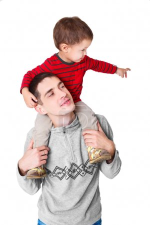 Photo for Father playing with little son. a little child and dad. family. - Royalty Free Image