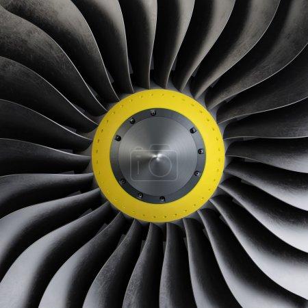 close up Plane turbine